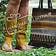 Комплект сандалии-сапоги+сумка Радуга из кожи змеи - 13000 руб. Возможны любые цвета и размеры на заказ по вашим меркам!