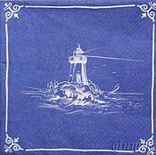 Материалы для творчества handmade. Livemaster - original item 6pcs napkins for decoupage old lighthouse print. Handmade.