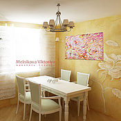 """Картины и панно ручной работы. Ярмарка Мастеров - ручная работа Картина маслом """"crema catalana"""" 60/40 см. Handmade."""