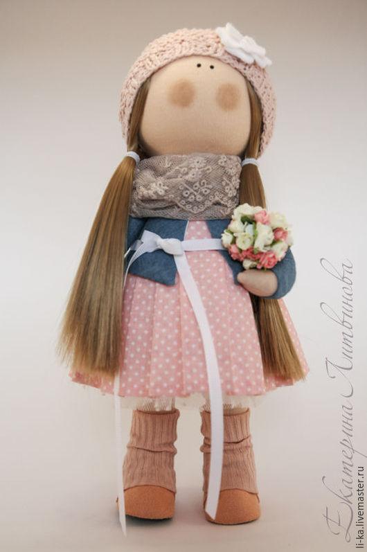 Куклы тыквоголовки ручной работы. Ярмарка Мастеров - ручная работа. Купить Интерьерная кукла.. Handmade. Бледно-розовый