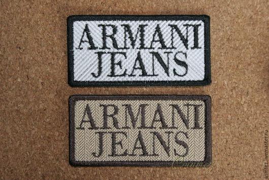 вышивка нашивка шеврон аппликация Armani Jeans