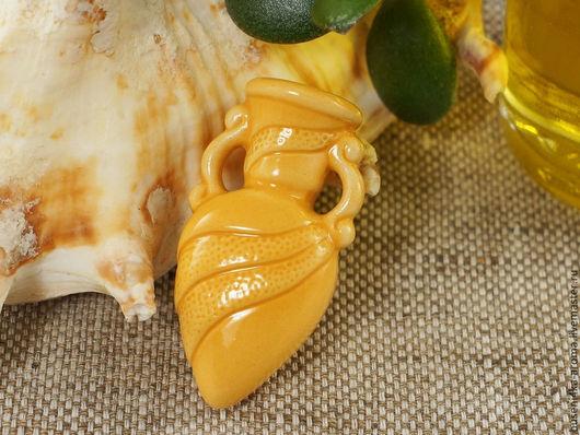 Для украшений ручной работы. Ярмарка Мастеров - ручная работа. Купить Аромакулон керамический №3 (желтый). Handmade. Аромакулон, ароматерапия