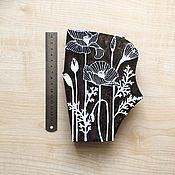 Материалы для творчества ручной работы. Ярмарка Мастеров - ручная работа Штамп для печати на ткани, набойки МАКИ. Handmade.
