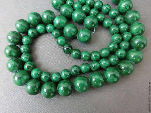Бусины Яшма зеленые шары. Бусины яшмы для колье, яшма бусины для браслетов, яшма бусина для серег.