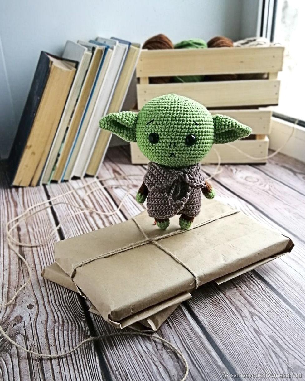 Soft knitted toy Baby Yoda, Stuffed Toys, Rybinsk,  Фото №1