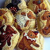 Куклы и игрушки ручной работы. Ярмарка Мастеров - ручная работа Набор новогодних игрушек на ёлку. Кофейные мишки. 7 шт.. Handmade.