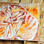 Картины и панно handmade. Livemaster - original item Red arms - painting on paper. Handmade.