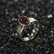 Украшения ручной работы. Ярмарка Мастеров - ручная работа Кованое кольцо с огненным агатом. Handmade.