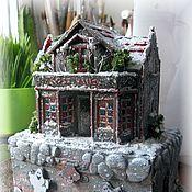 """Куклы и игрушки ручной работы. Ярмарка Мастеров - ручная работа Шкатулка """"Дом с привидениями"""". Handmade."""