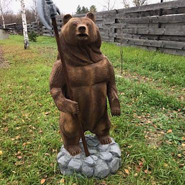 Для дома и интерьера ручной работы. Ярмарка Мастеров - ручная работа Медведь из цельного дерева. Handmade.