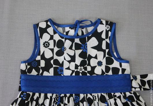 Одежда для девочек, ручной работы. Ярмарка Мастеров - ручная работа. Купить Платье для девочки Синий цветок нарядное. Handmade.