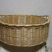 Для дома и интерьера handmade. Livemaster - original item Large round basket with handles. Handmade.