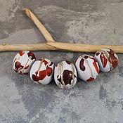 Материалы для творчества manualidades. Livemaster - hecho a mano Conjunto de 5 piezas grandes cuentas huecas. Handmade.