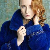 """Одежда ручной работы. Ярмарка Мастеров - ручная работа Шуба""""Синий,синий"""". Handmade."""