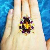 Украшения handmade. Livemaster - original item Ring the Madeira natural citrine, 25 carat. Handmade.