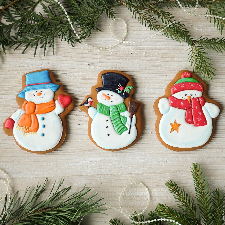 Set of gingerbread Snowmen, Gingerbread Cookies Set, St. Petersburg,  Фото №1