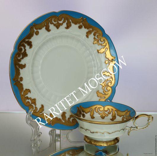 Винтажная посуда. Ярмарка Мастеров - ручная работа. Купить Чайная пара золото SCHAUBACHKUNST Германия 3. Handmade. Комбинированный, золото
