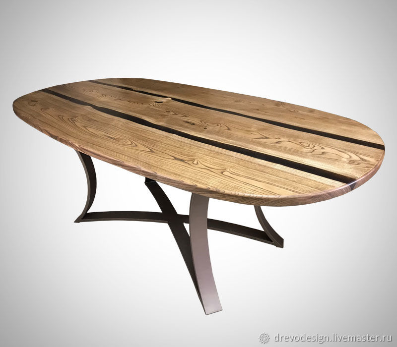Dining table from elm ' Two Rivers», Tables, Belgorod,  Фото №1