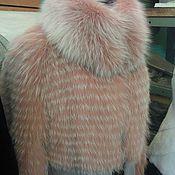 Одежда ручной работы. Ярмарка Мастеров - ручная работа Пальто зимнее с розовой лисой. Handmade.