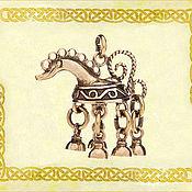 """Украшения ручной работы. Ярмарка Мастеров - ручная работа Подвеска шумящая """"Солнечный конёк"""". Handmade."""