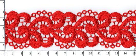 Аппликации, вставки, отделка ручной работы. Ярмарка Мастеров - ручная работа. Купить Кружево макраме Арт.MT-9 красный, 4.5 см. Handmade.