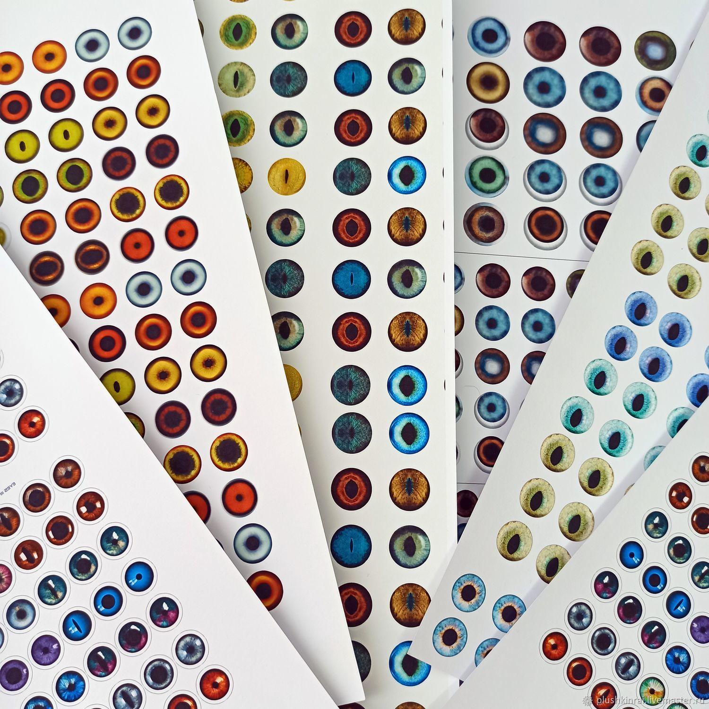 Глаза для игрушек/ радужки, Глаза и ресницы, Обнинск,  Фото №1