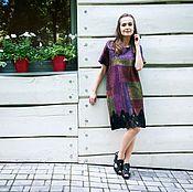 Одежда ручной работы. Ярмарка Мастеров - ручная работа Валяное платье Цветы запоздалые. Handmade.