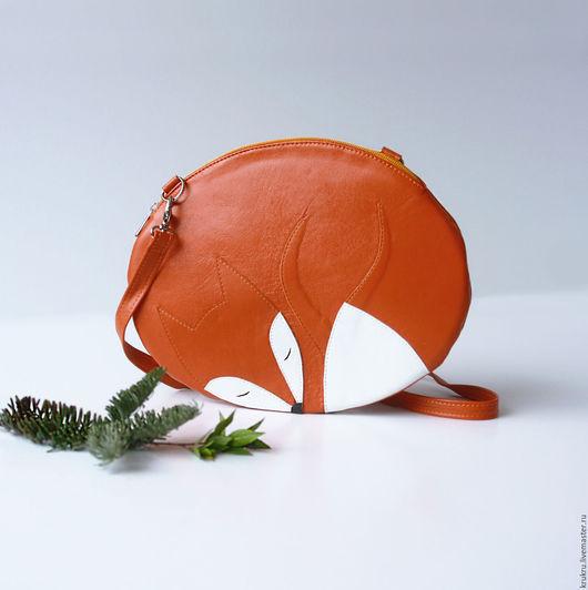 Женские сумки ручной работы. Ярмарка Мастеров - ручная работа. Купить Сумка Лиса (кожа) 19х25 см. Handmade. Оранжевый