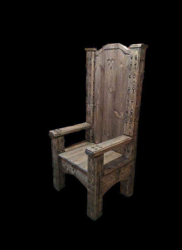 Трон стул с досок фото