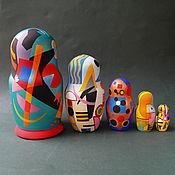 Русский стиль handmade. Livemaster - original item Matryoshka Kandinsky-Malevich. Handmade.