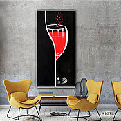 Картины ручной работы. Ярмарка Мастеров - ручная работа Картины: Красное вино. Handmade.