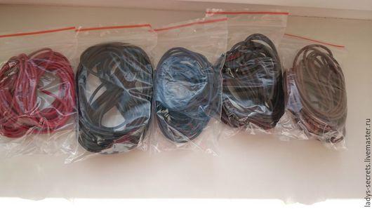 Для украшений ручной работы. Ярмарка Мастеров - ручная работа. Купить Шнур кожаный 2.5 мм 5 метров КРАСНЫЙ. Handmade.