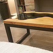 Для дома и интерьера handmade. Livemaster - original item Table sleba river from cedar with glass Chulcha. Handmade.