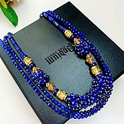 handmade. Livemaster - original item Necklace with lapis lazuli and citrine. Handmade.