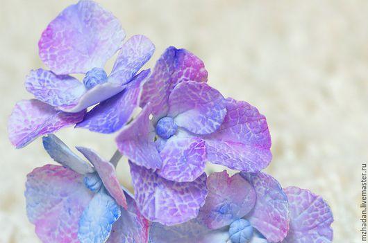 Голубая гортензия,Шпильки ручной работы,Авторское украшение,Шпильки невесты.