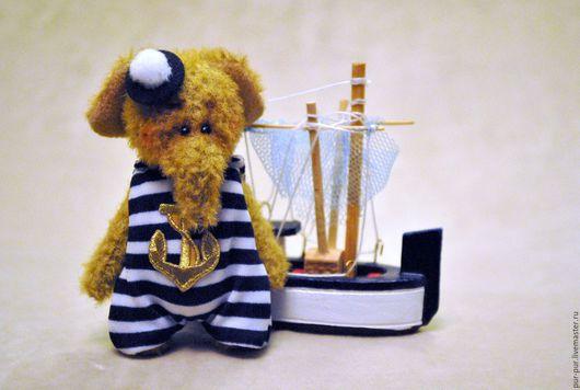 Мишки Тедди ручной работы. Ярмарка Мастеров - ручная работа. Купить Слоня  Блю (миниатюра - брошка). Handmade. Синий, слоны