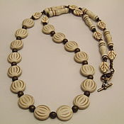 Украшения handmade. Livemaster - original item Beads of howlite