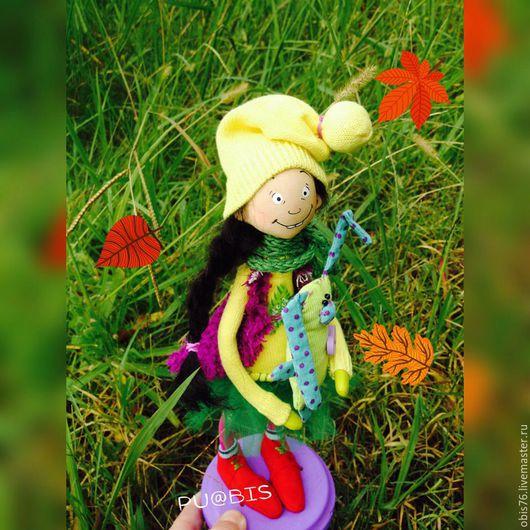 Человечки ручной работы. Ярмарка Мастеров - ручная работа. Купить Веселушка. Handmade. Комбинированный, человечки, кукла, интерьерная кукла, подарок