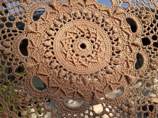Текстиль, ковры ручной работы. Ярмарка Мастеров - ручная работа. Купить Салфетка. Handmade. Коричневый, салфетка ручной работы