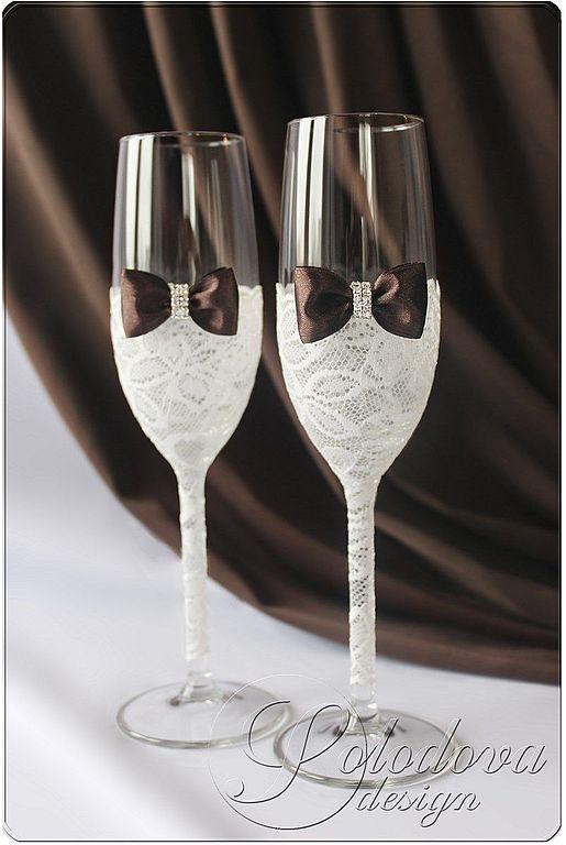 """Свадебные бокалы """"Париж"""" \r\nБокалы на свадьбу,бокалы для свадьбы,свадебные бокалы ручной работы,бокалы для молодоженов."""