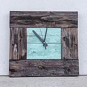 Для дома и интерьера ручной работы. Ярмарка Мастеров - ручная работа Часы из двух видов старого дерева. Handmade.