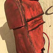 Ботинки ручной работы. Ярмарка Мастеров - ручная работа Красные кожаные ботинки, туфли ручной работы. Handmade.