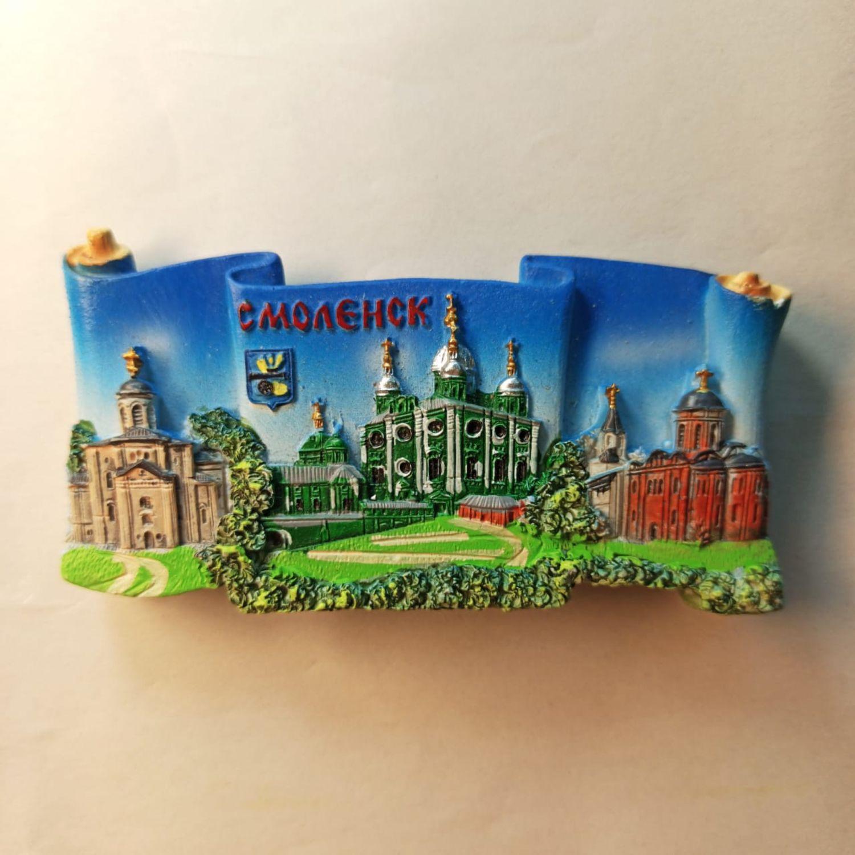 Винтаж: Сувенирный магнит со всеми святынями с города Смоленска, Аксессуары винтажные, Смоленск,  Фото №1