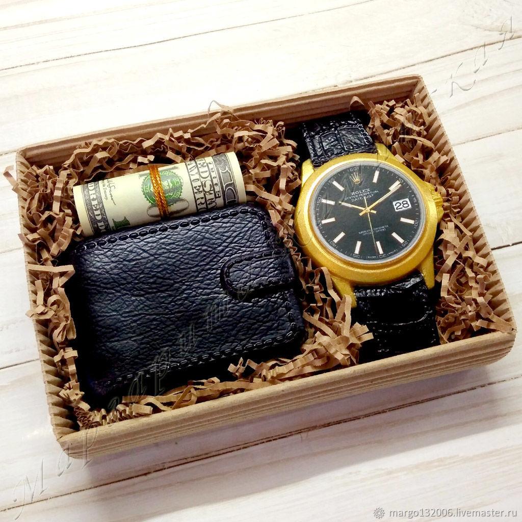 Часы с кошельком и долларами набор мыла, Мыло, Москва,  Фото №1