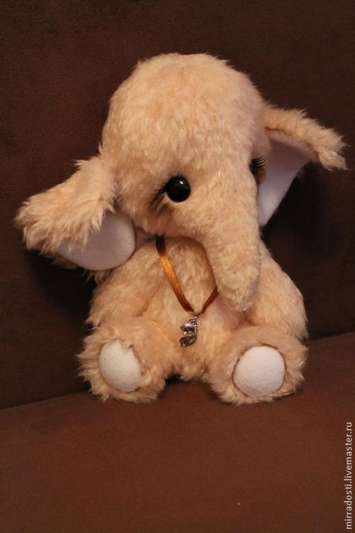 Мишки Тедди ручной работы. Ярмарка Мастеров - ручная работа. Купить Слонёнок Любимчик. Handmade. Бежевый, тедди слоник, весна