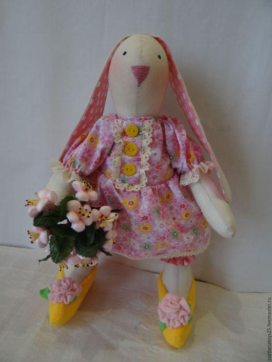 текстильная игрушка. текстильная кукла. интерьерная игрушка интерьерная кукла тильда заяц тильда кролик