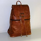 Сумки и аксессуары handmade. Livemaster - original item Backpack leather 13. Handmade.