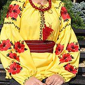 """Одежда ручной работы. Ярмарка Мастеров - ручная работа Вышитая рубаха """"Солнечная"""". Handmade."""