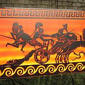 Картина из металла Гектор и Ахиллес с подсветкой, репродукция