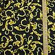 Вискоза Versace черная с золотом, арт. 89Р18-3. Ткани. Ткани из Флоренции. Интернет-магазин Ярмарка Мастеров.  Фото №2